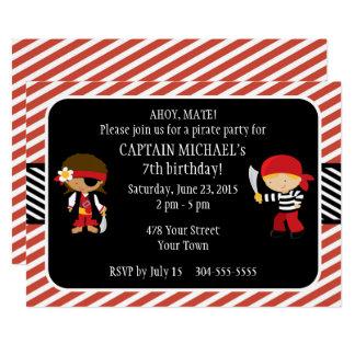 Carte Fête d'anniversaire de pirate