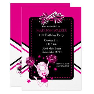 Carte Fête d'anniversaire de pom-pom girl dans les roses