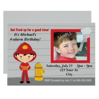 Carte Fête d'anniversaire de sapeur-pompier