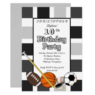 Extrêmement Anniversaire Basket Ball Cartes, Invitations, Photocartes et faire  EF91