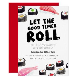 Carte Fête d'anniversaire de sushi