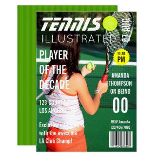 Carte Fête d'anniversaire de tennis de célébrité de PIC