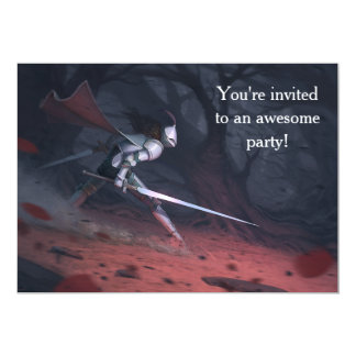 Carte Fête d'anniversaire des chevaliers courageux