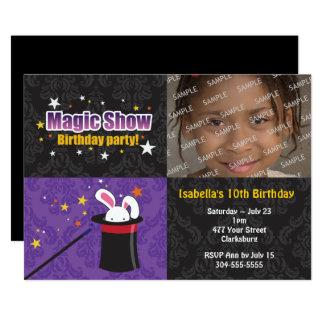 Carte Fête d'anniversaire du lapin du magicien
