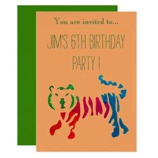 Carte Fête d'anniversaire mignonne de garçon