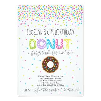 Carte Fête d'anniversaire orientée de beignet -