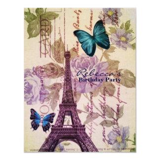 Carte fête d'anniversaire parisienne de Tour Eiffel