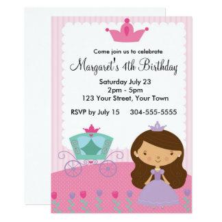 Carte Fête d'anniversaire royale de princesse