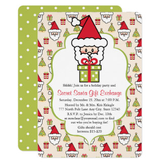 Carte Fête de Noël secrète mignonne de Père Noël