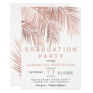 Carte Fête de remise des diplômes élégante de palmier