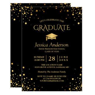 Carte Fête de remise des diplômes licenciée d'or de