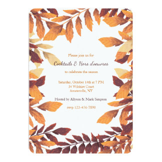 Carte Feuille d'invitation d'automne