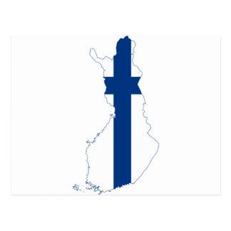 Carte fi de drapeau de la Finlande