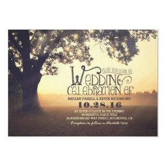 Carte Ficelle du mariage vintage rustique d'arbre de
