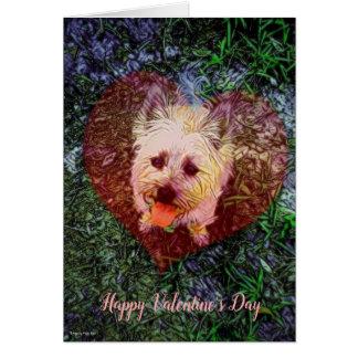 Carte fidèle de Saint-Valentin de blanc d'amour