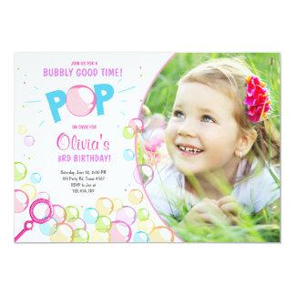 Carte Fille d'anniversaire de POP d'invitation de fête