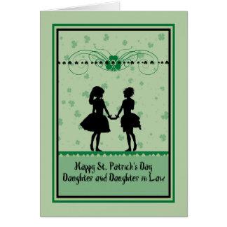Carte, fille et belle-fille du jour de St Patrick Cartes