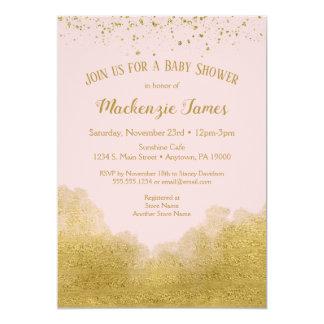 Carte Filles roses d'invitation de baby shower de