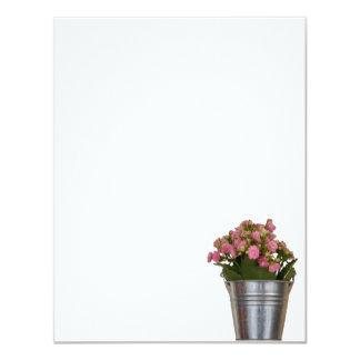 Carte fleur de bégonia dans le vase