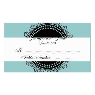 Carte fleurie bleue d'endroit de mariage de monogr modèle de carte de visite