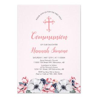 Carte Fleurissez, premières communion de la fille