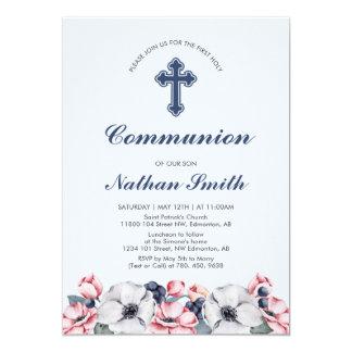 Carte Fleurissez, premières communion du garçon