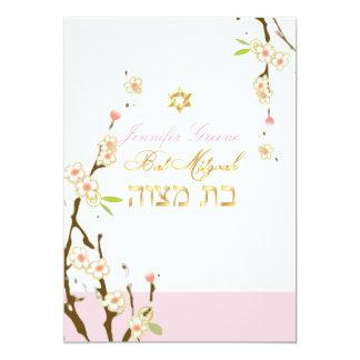 Carte Fleurs de cerisier roses de PixDezines/bat mitzvah