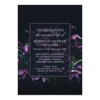 Carte Fleurs pourpres - célébration de mémorial de la