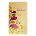 Carte florale colorée de profil de nature de feuil cartes de visite personnelles