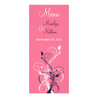 Carte florale de marine, de rose, et blanche de cartes doubles customisables