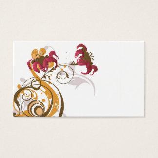 Carte florale de profil