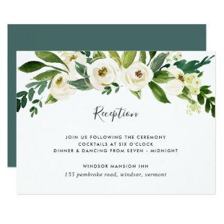 Carte florale de réception d'albâtre