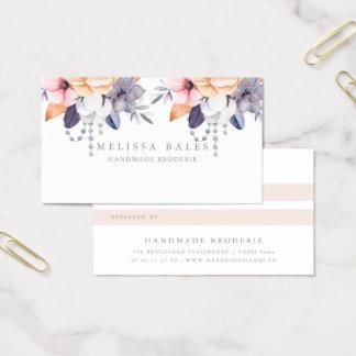 Carte florale de référence de pivoine élégante