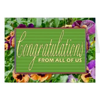 Carte florale de retraite de félicitations de tous