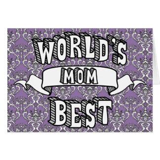 Carte florale des meilleurs de la maman du monde
