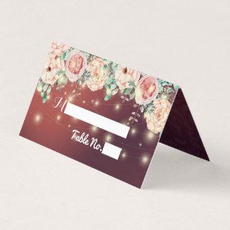 Carte florale d'escorte de nombre de Tableau de