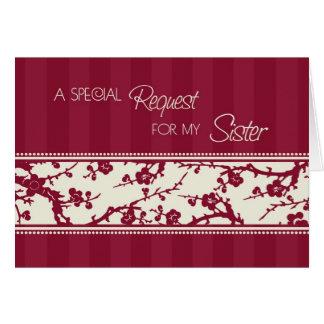 Carte florale d'invitation de demoiselle d'honneur