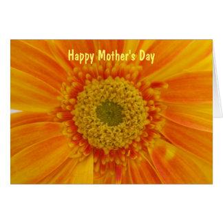 Carte florale du jour de mère
