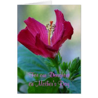 Carte florale du jour de mère de fille