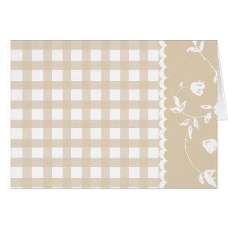Carte florale du jour de mère de guingan bronzage