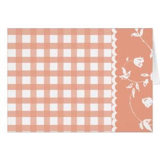 Carte florale du jour de mère de guingan orange