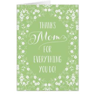 Carte florale élégante de jour de mères