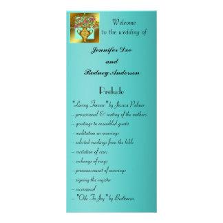 Carte florale élégante de support de programme de