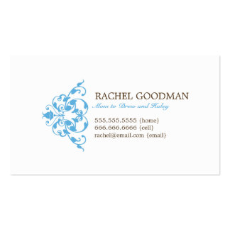Carte florale moderne de maman/télécarte carte de visite standard
