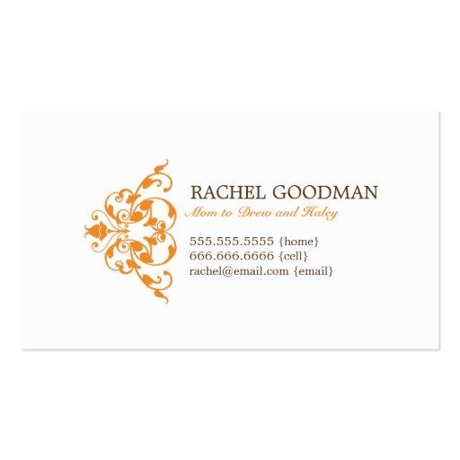 Carte florale moderne de maman/télécarte personnel carte de visite