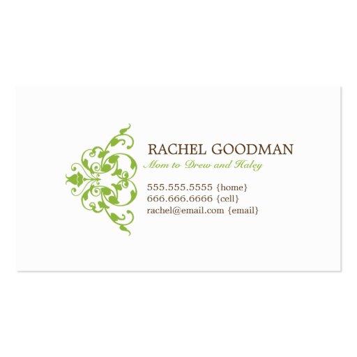 Carte florale moderne de maman/télécarte personnel cartes de visite professionnelles
