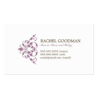 Carte florale moderne de maman/télécarte personnel modèles de cartes de visite