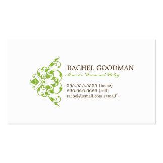Carte florale moderne de maman/télécarte personnel carte de visite standard