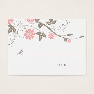 Carte florale moderne d'endroit - doucement rose