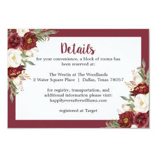 Carte florale rayée de logement de mariage de